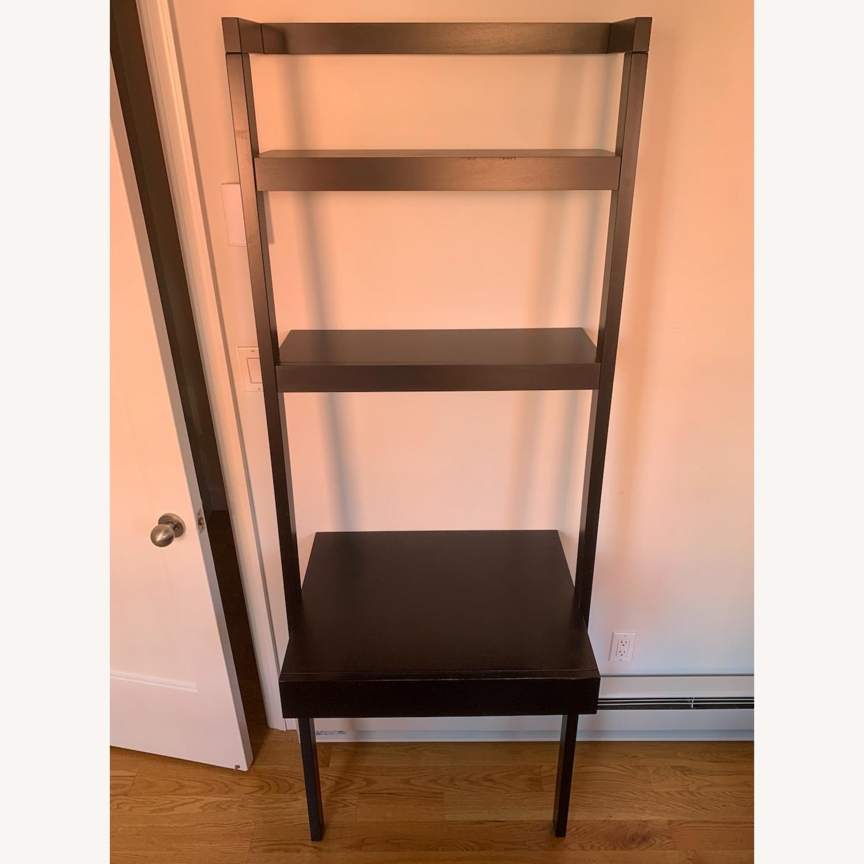 Crate & Barrel Sawyer Black Desk and Shelves - image-1