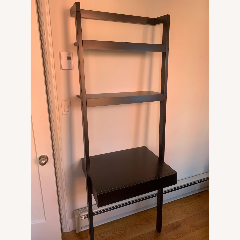 Crate & Barrel Sawyer Black Desk and Shelves - image-3