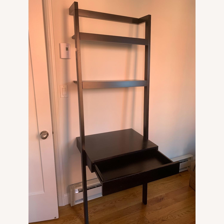 Crate & Barrel Sawyer Black Desk and Shelves - image-2