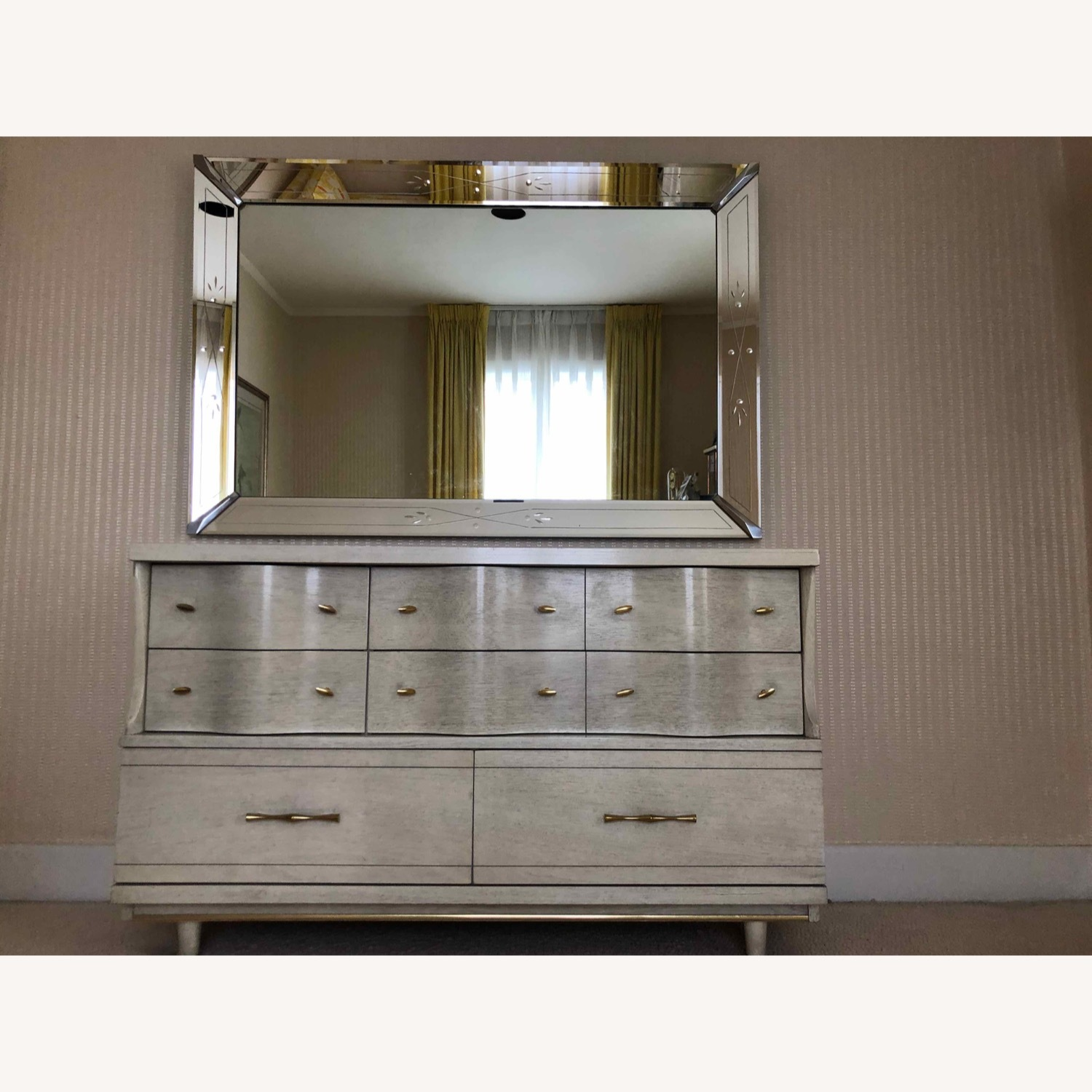 Dresser with Etched Mirror - image-1