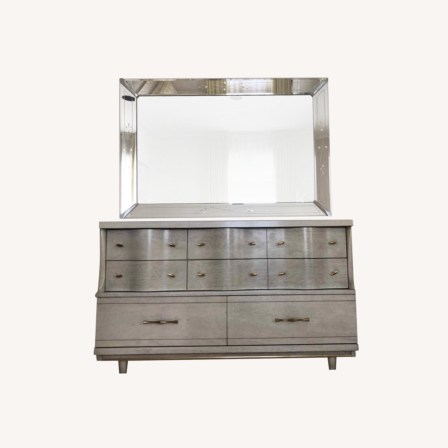 Dresser with Etched Mirror - image-0