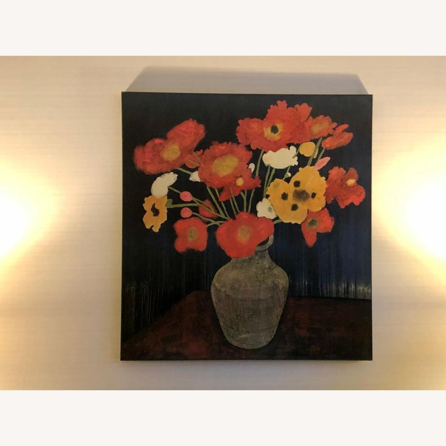 Crate & Barrel Jean Poppies Painting - image-2