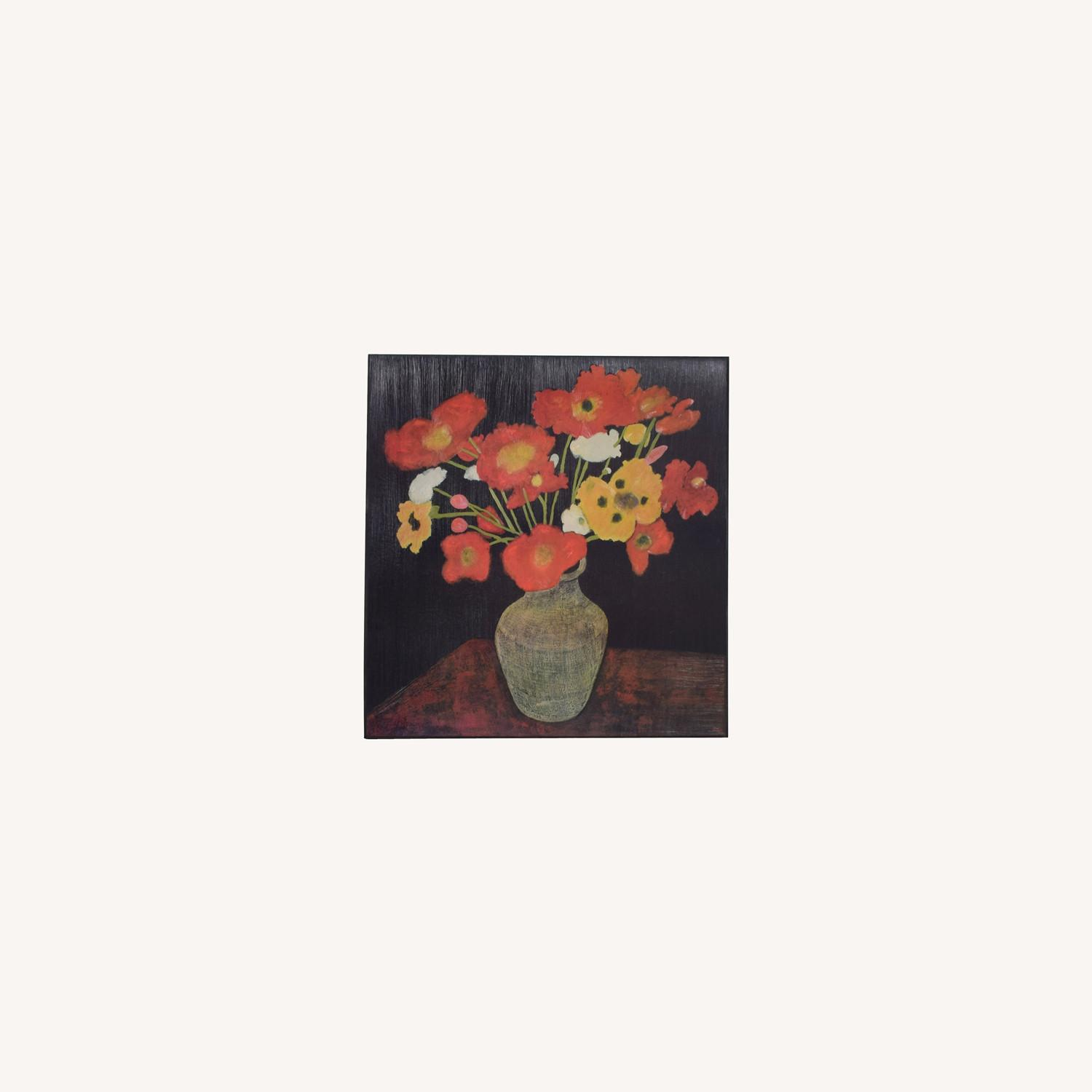 Crate & Barrel Jean Poppies Painting - image-0