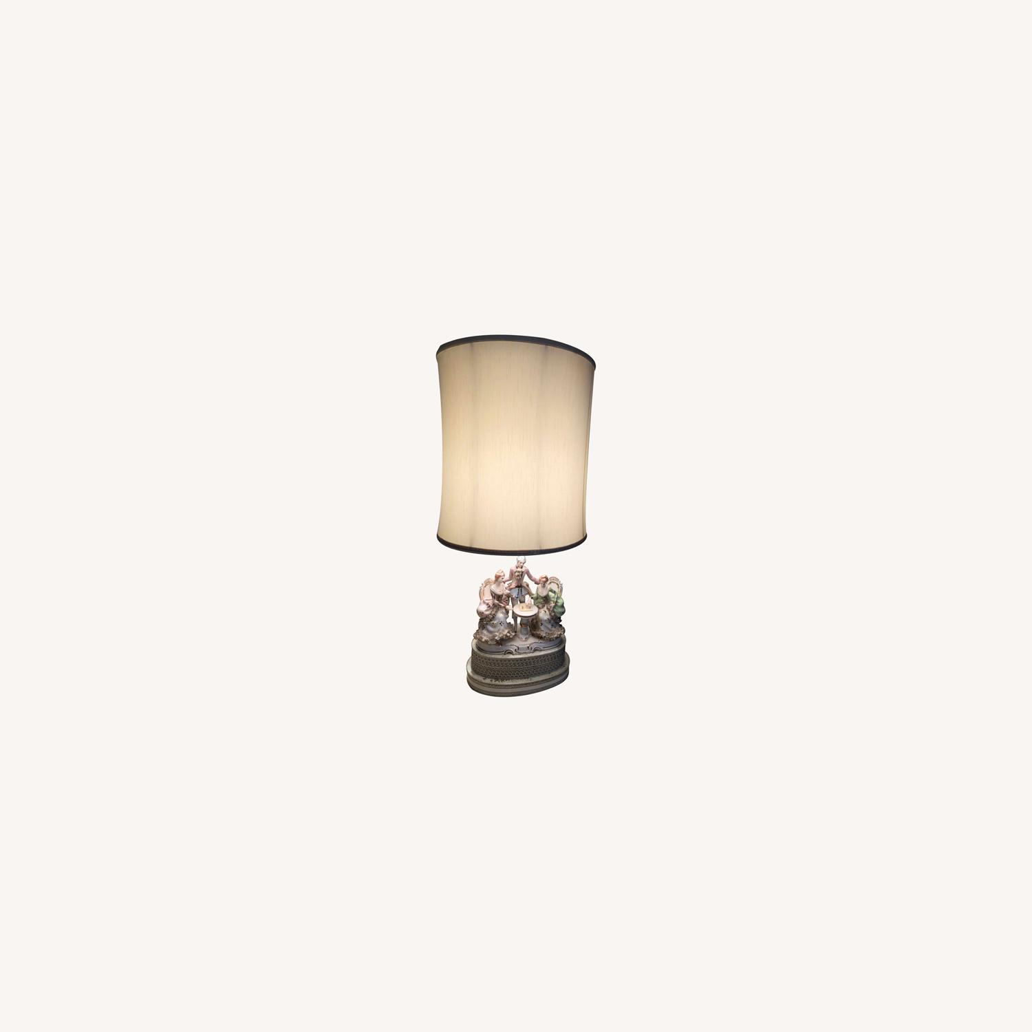 Porcelain Lamp with Lighted Base - image-0