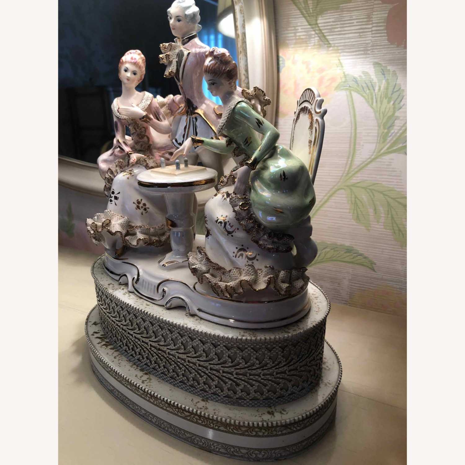 Porcelain Lamp with Lighted Base - image-4