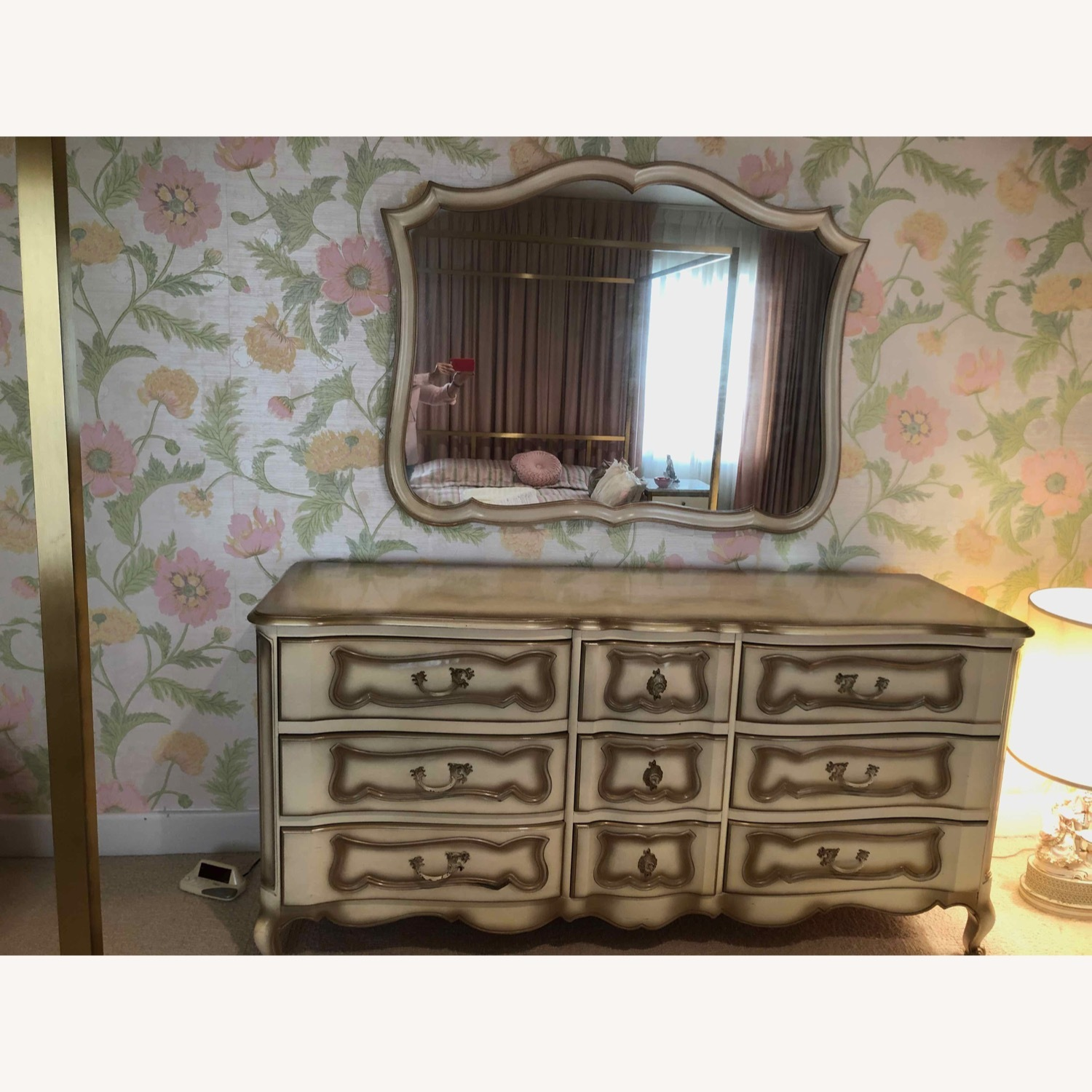 French Provincial Dresser and Matching Mirror - image-2