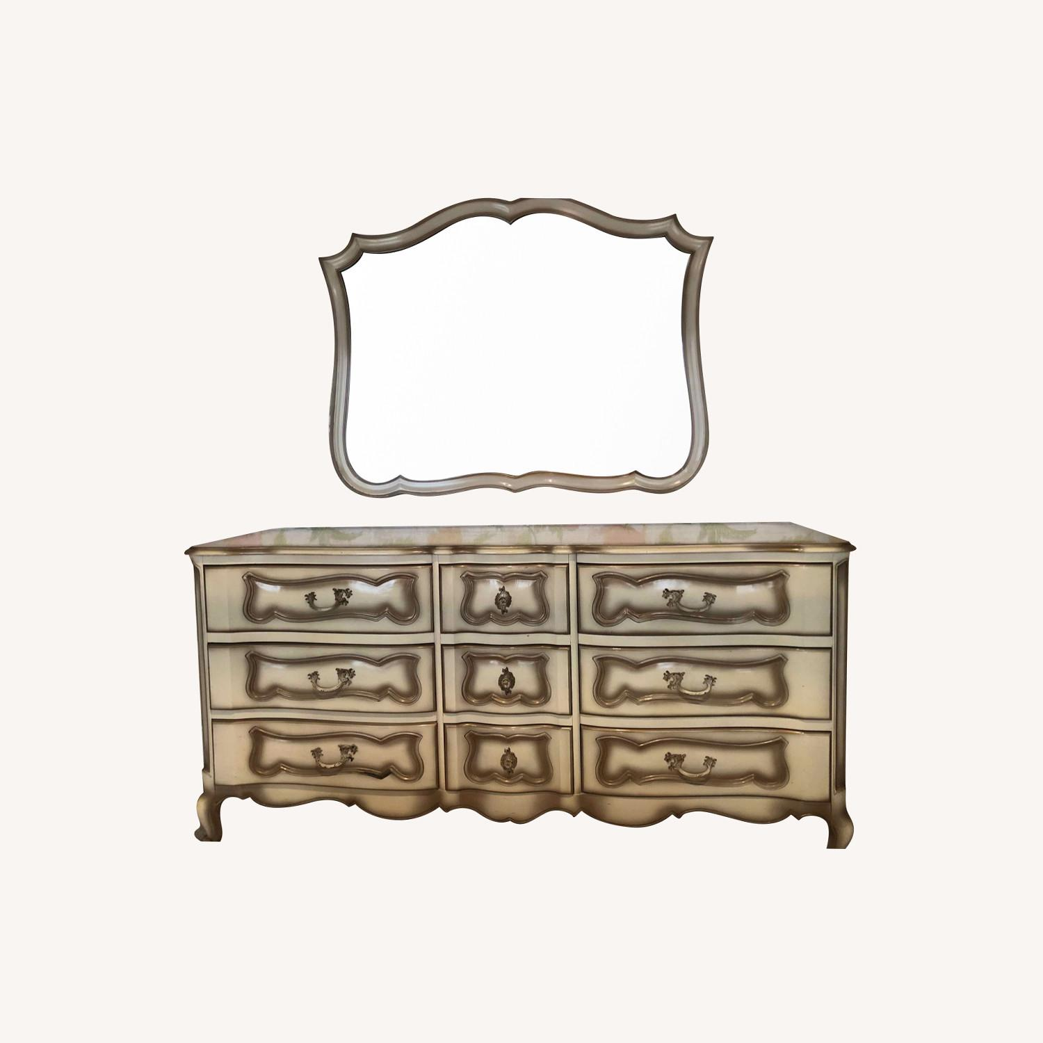 French Provincial Dresser and Matching Mirror - image-0