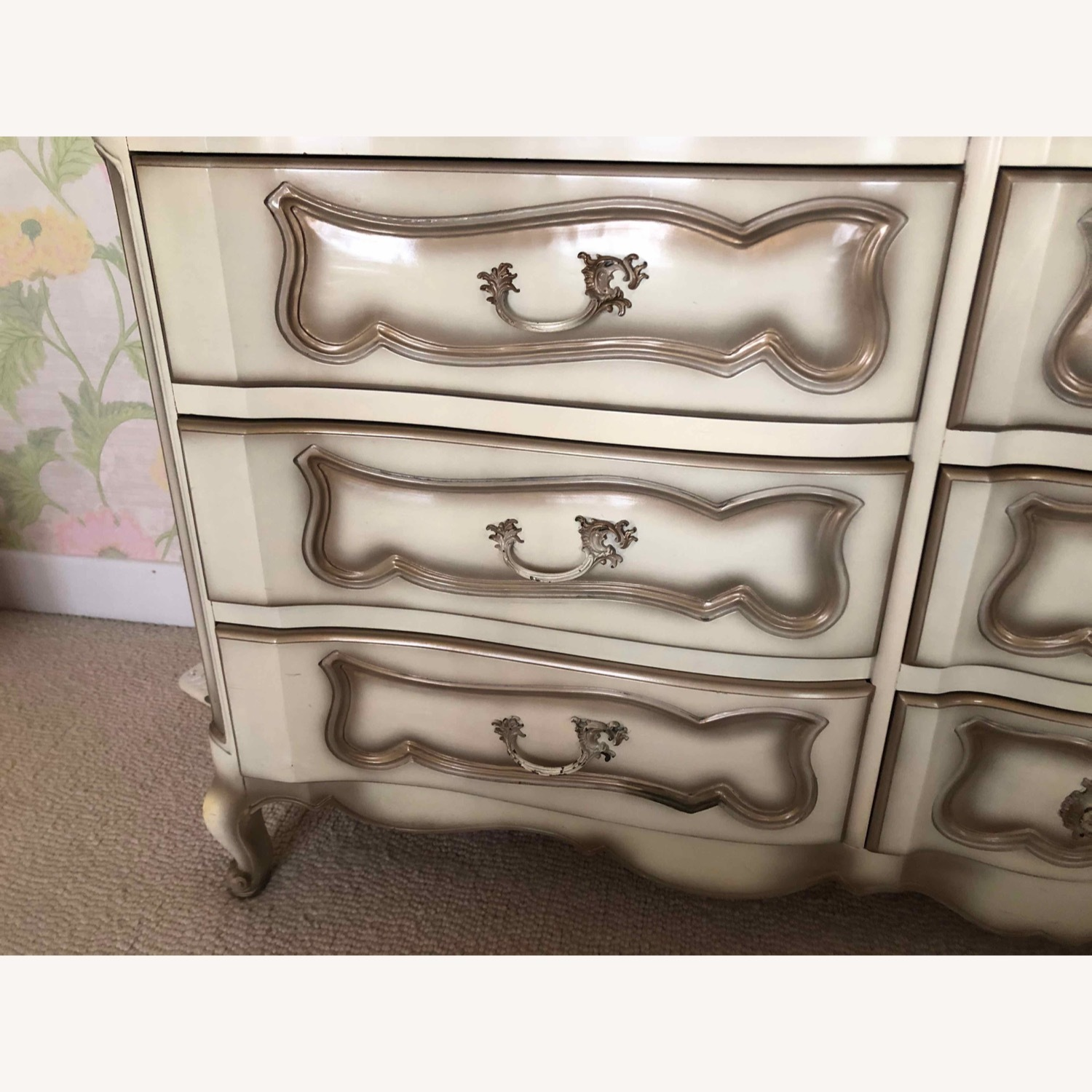 French Provincial Dresser and Matching Mirror - image-5