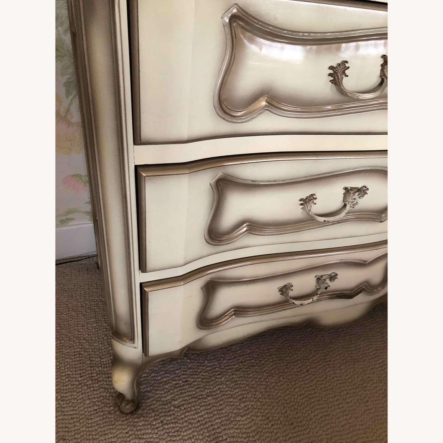 French Provincial Dresser and Matching Mirror - image-4