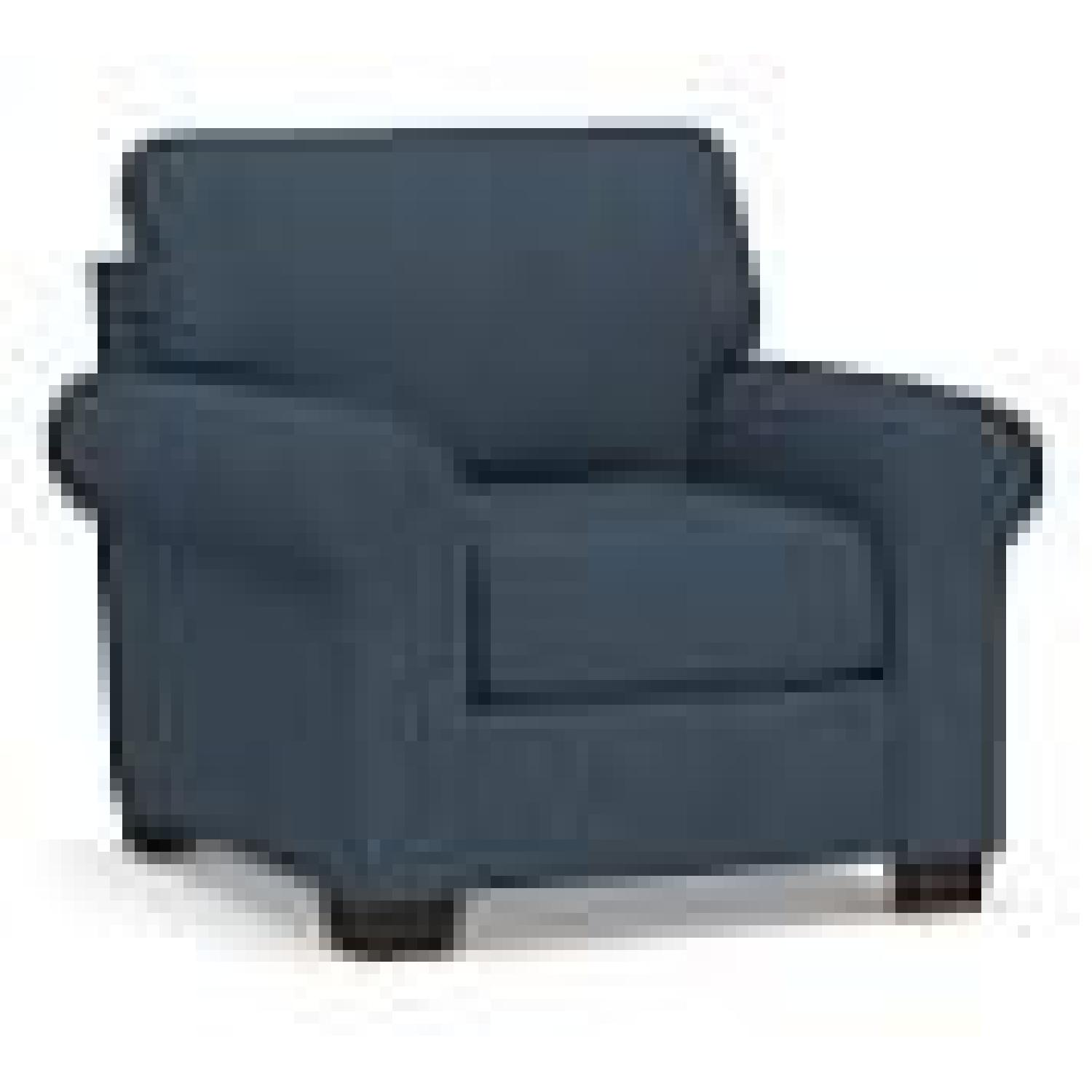 Pottery Barn Buchanan Arm Chair Navy Blue Twill - image-4