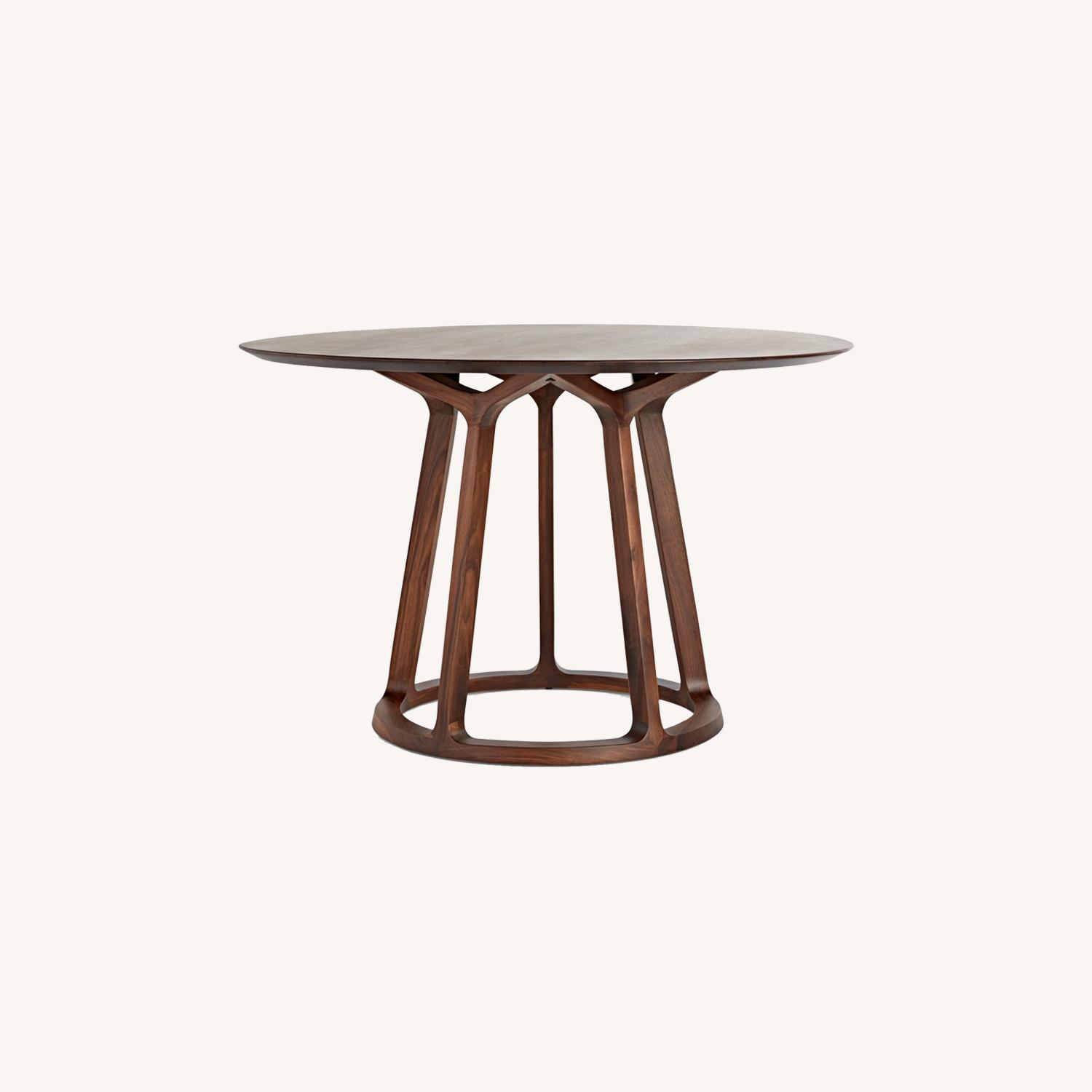 Rejuvenation Wood Modern Round Dining Table - image-0