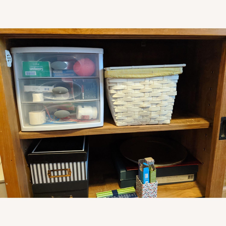Crate & Barrel Teak Buffet - image-8