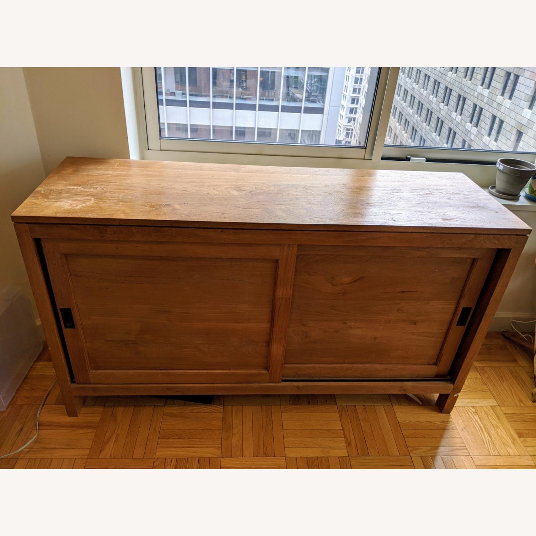 Crate & Barrel Teak Buffet - image-1