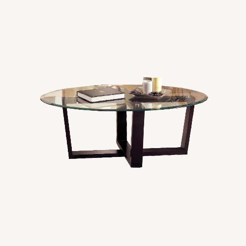 Used Coaster Fine Furniture Glass Coffee Table for sale on AptDeco