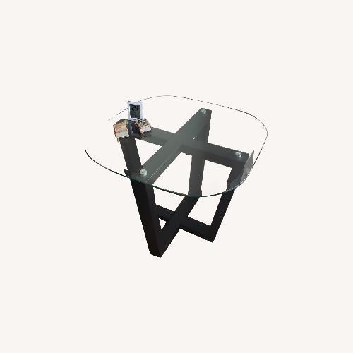 Used Coaster glass coffee table set for sale on AptDeco