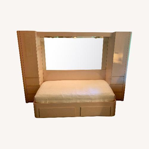 Used Contemporary Formica Platform Bed with Storage for sale on AptDeco