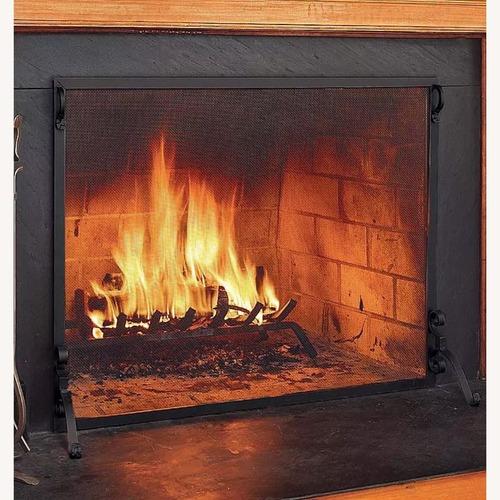 Used Plow & Hearth Steel Fireplace Screen for sale on AptDeco