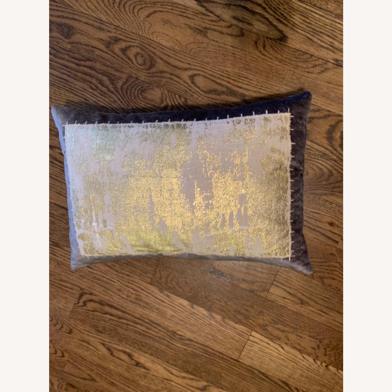 Michael Adam Distressed Metallic Lace 2 Pillows - image-1