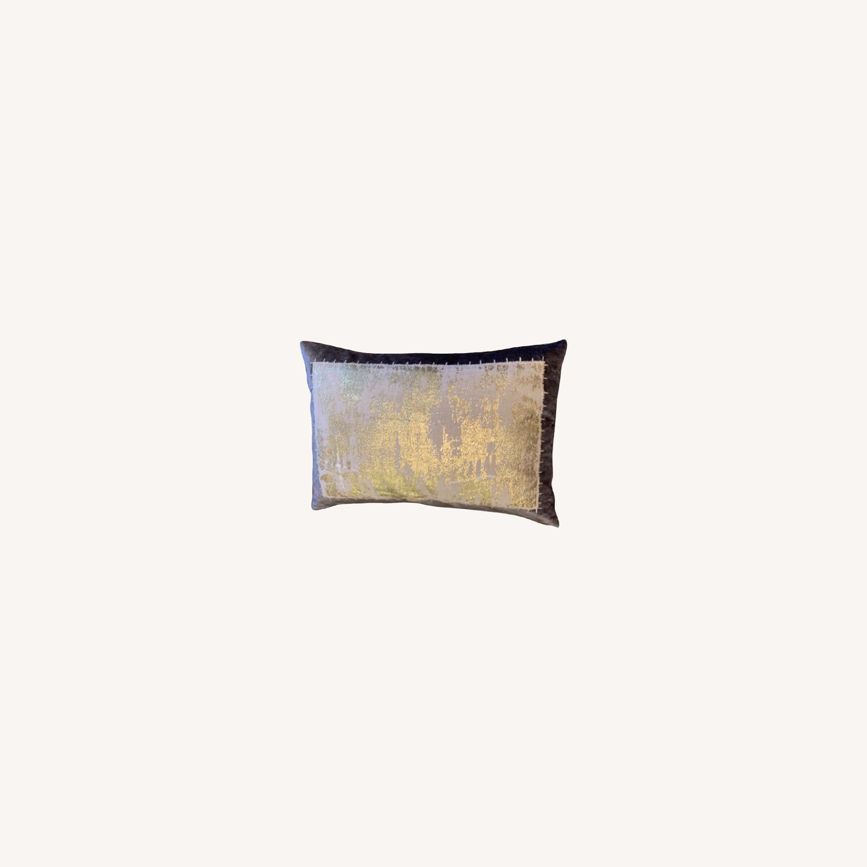 Michael Adam Distressed Metallic Lace 2 Pillows - image-0