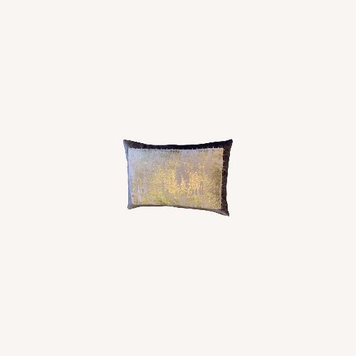 Used Michael Adam Distressed Metallic Lace 2 Pillows for sale on AptDeco