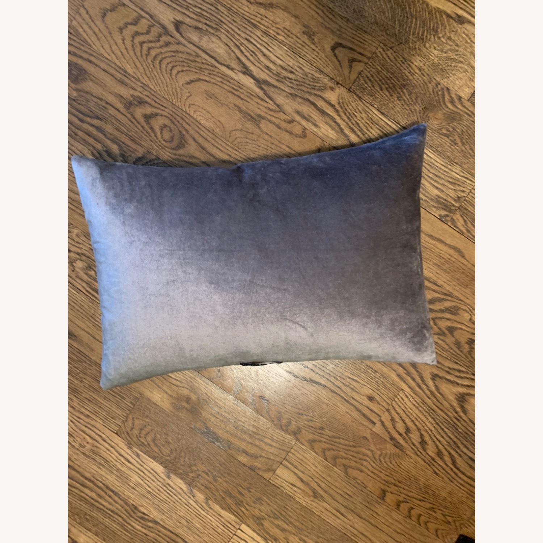 Michael Adam Distressed Metallic Lace 2 Pillows - image-2