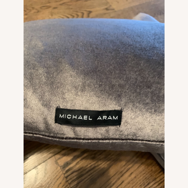 Michael Adam Distressed Metallic Lace 2 Pillows - image-6