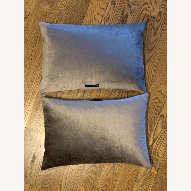 Michael Adam Distressed Metallic Lace 2 Pillows - image-5