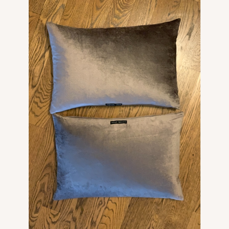 Michael Adam Distressed Metallic Lace 2 Pillows - image-4