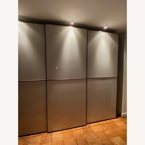 Used Jensen-Lewis Sliding Glass Door Wardrobe for sale on AptDeco