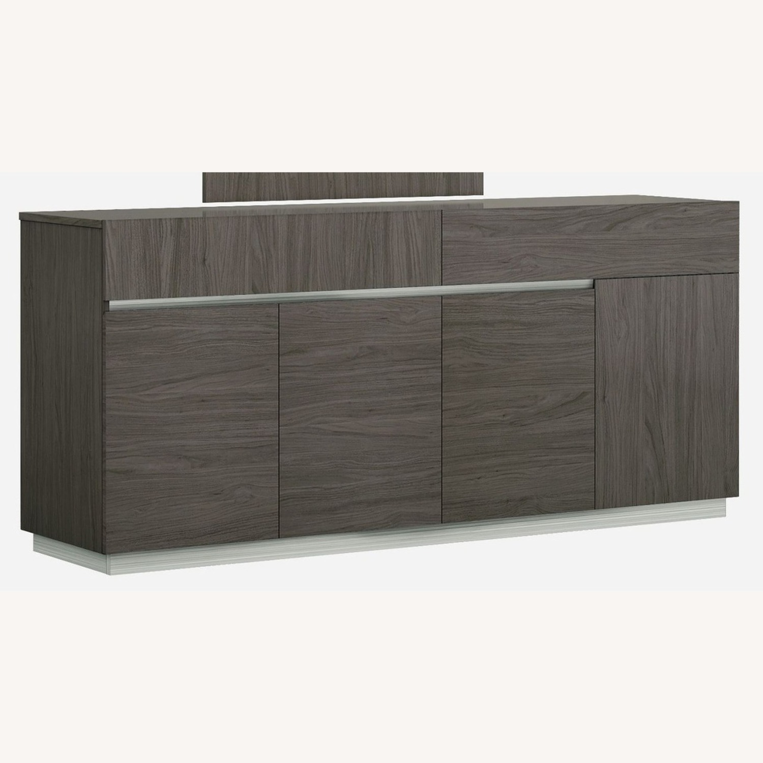 Modern Buffet In Grey Lacquer W/ Taupe Accents - image-0