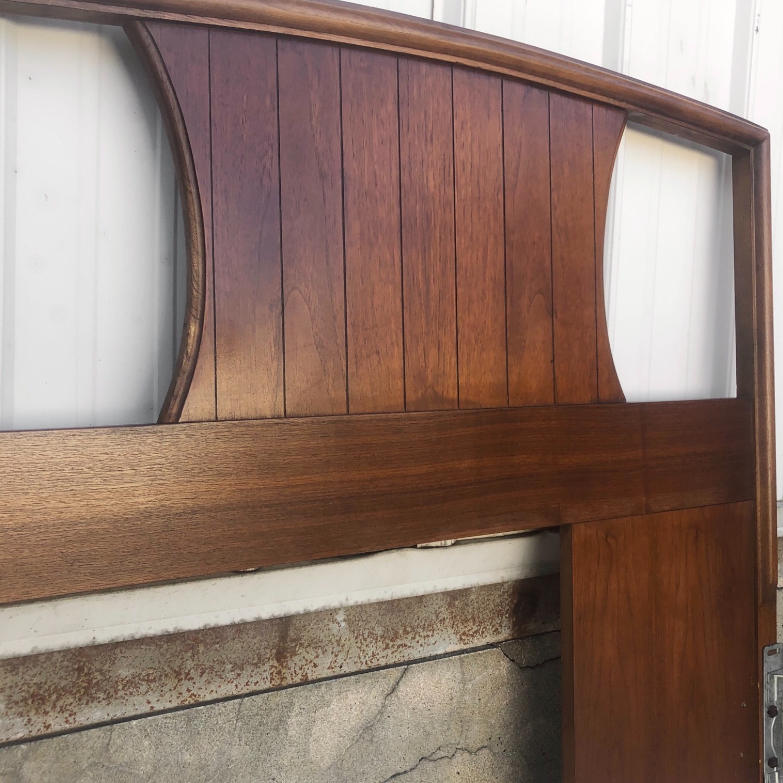 Mid-Century Modern Walnut Headboard- King - image-4