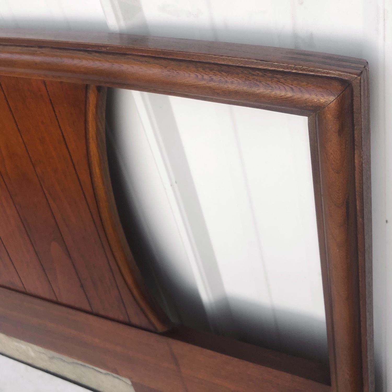 Mid-Century Modern Walnut Headboard- King - image-7