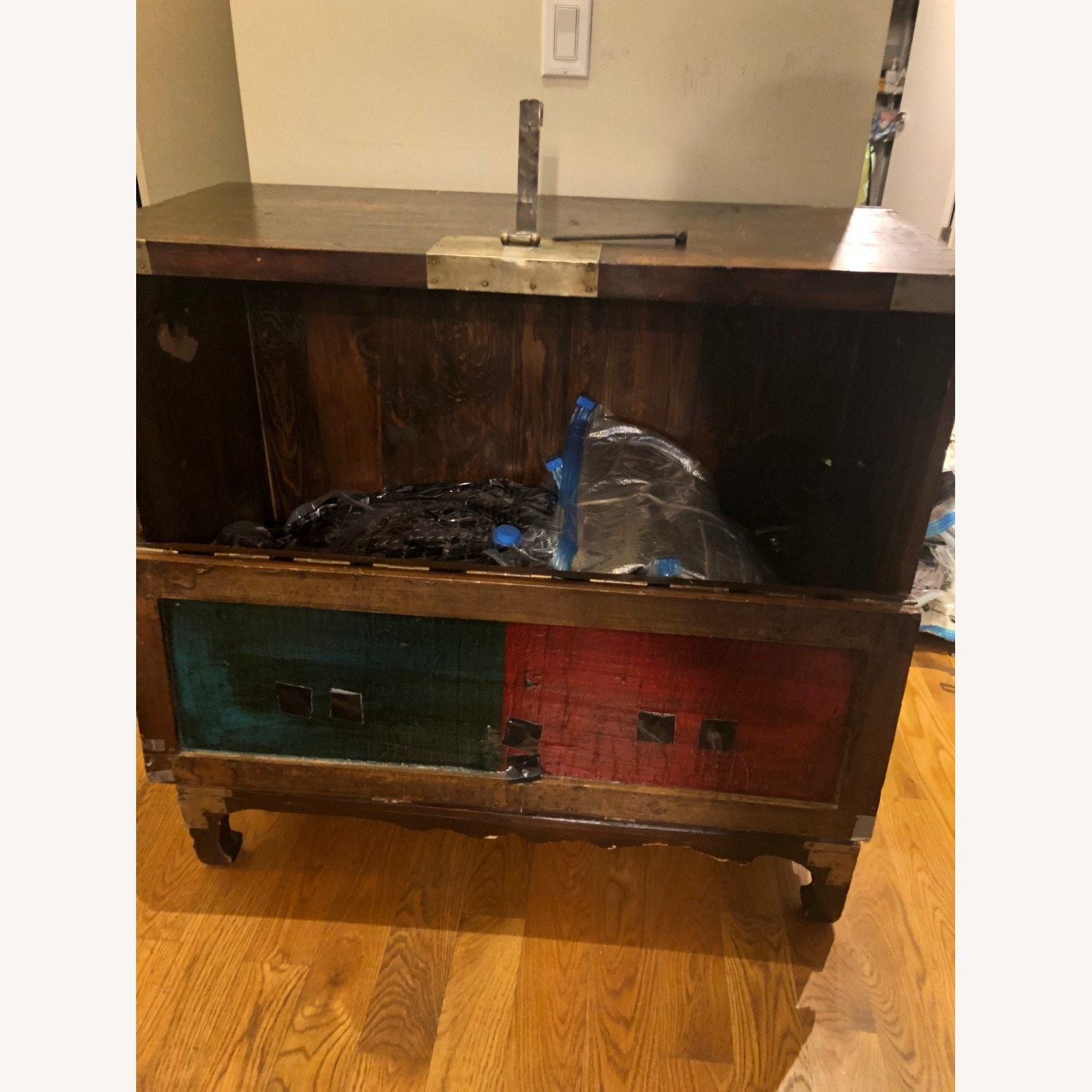 Korean Antique Wood Chest - image-6