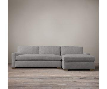 Restoration Hardware Maxwell Lenin Upholstered Sectional Sof