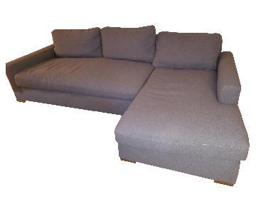Restoration Hardware Maxwell Lenin Upholstered Sectional Sofa