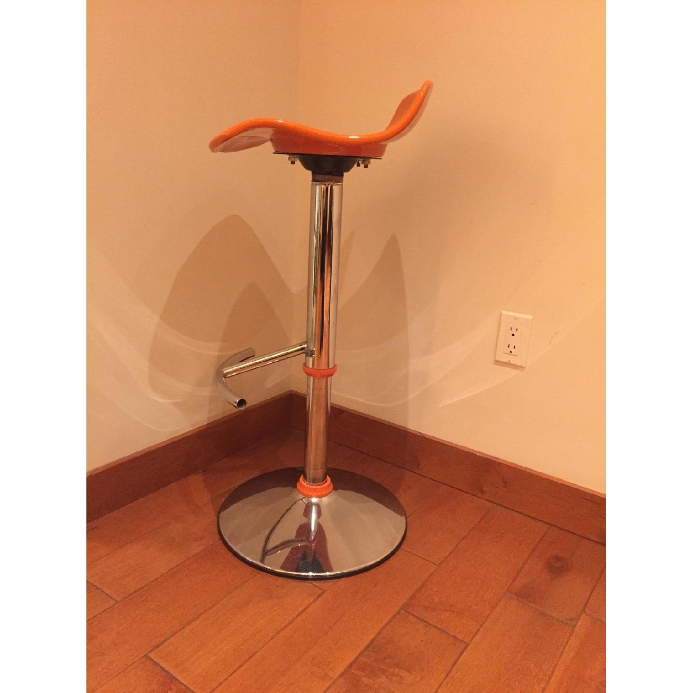 Adjustable Bar Stool in Orange - image-1