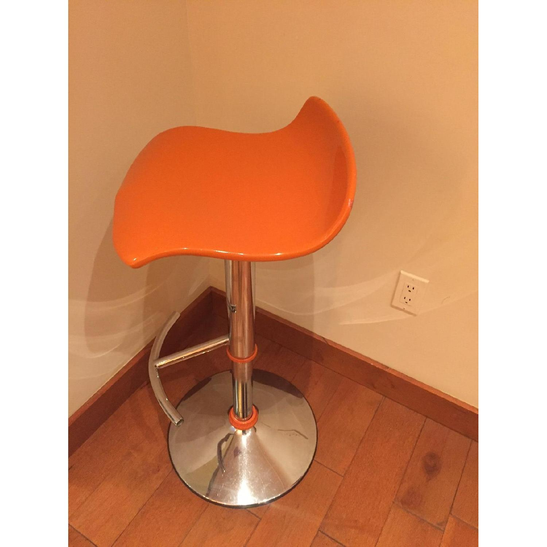Adjustable Bar Stool in Orange - image-2