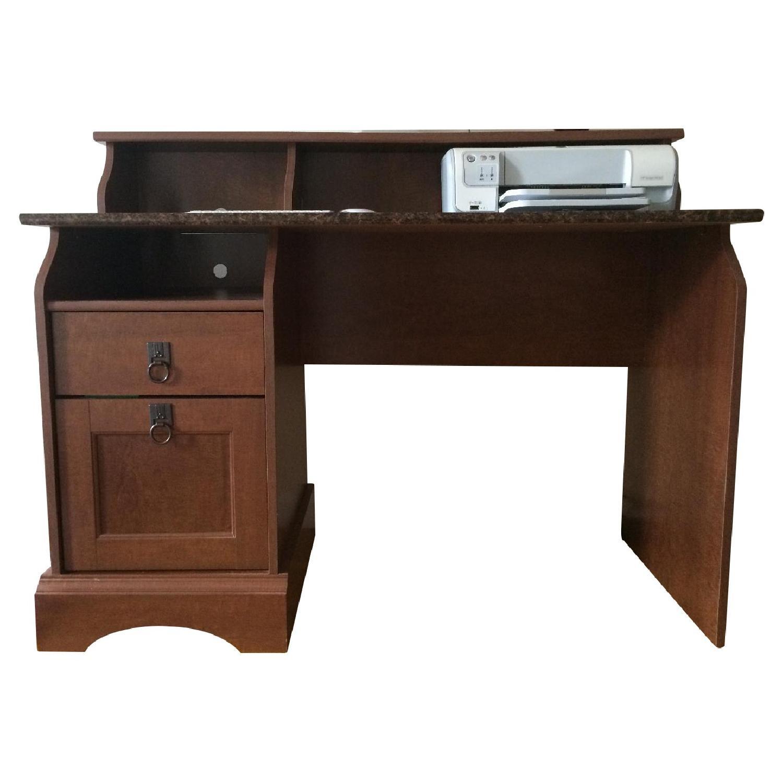 Faux Marble Top Desk Aptdeco