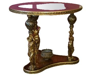 Round Gold Leaf Tables
