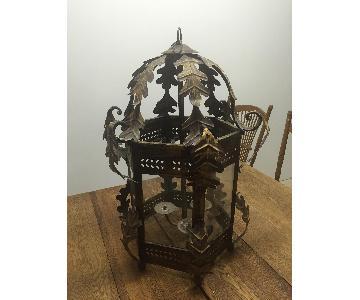 Vintage Metal/Glass Chandelier