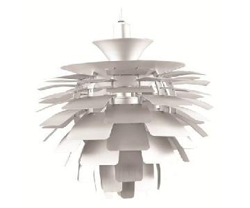 Mid-Century Style Artichoke Leaf Aluminum Hanging lamp