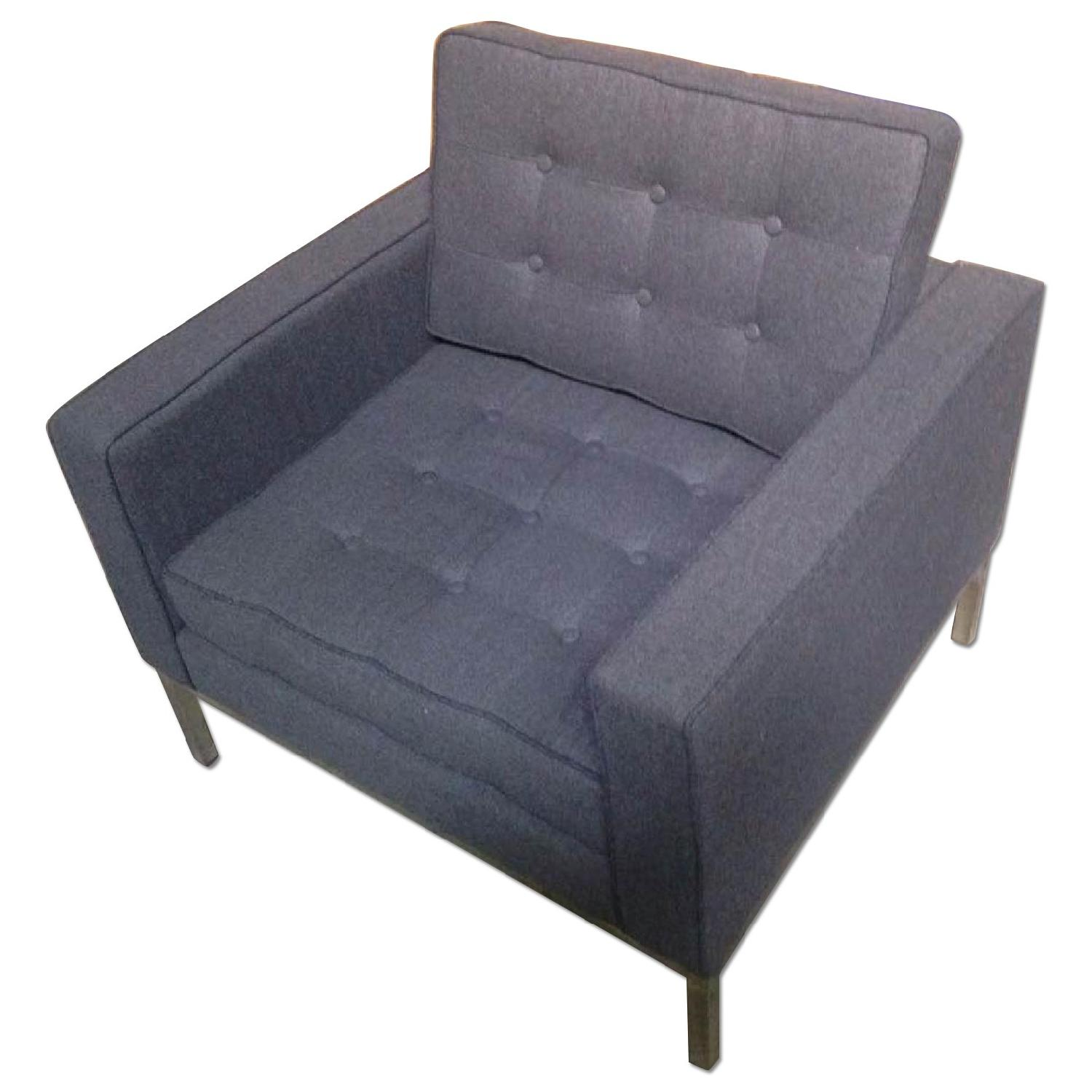Mid Century Style Modern Accent Chair W Tufted Back