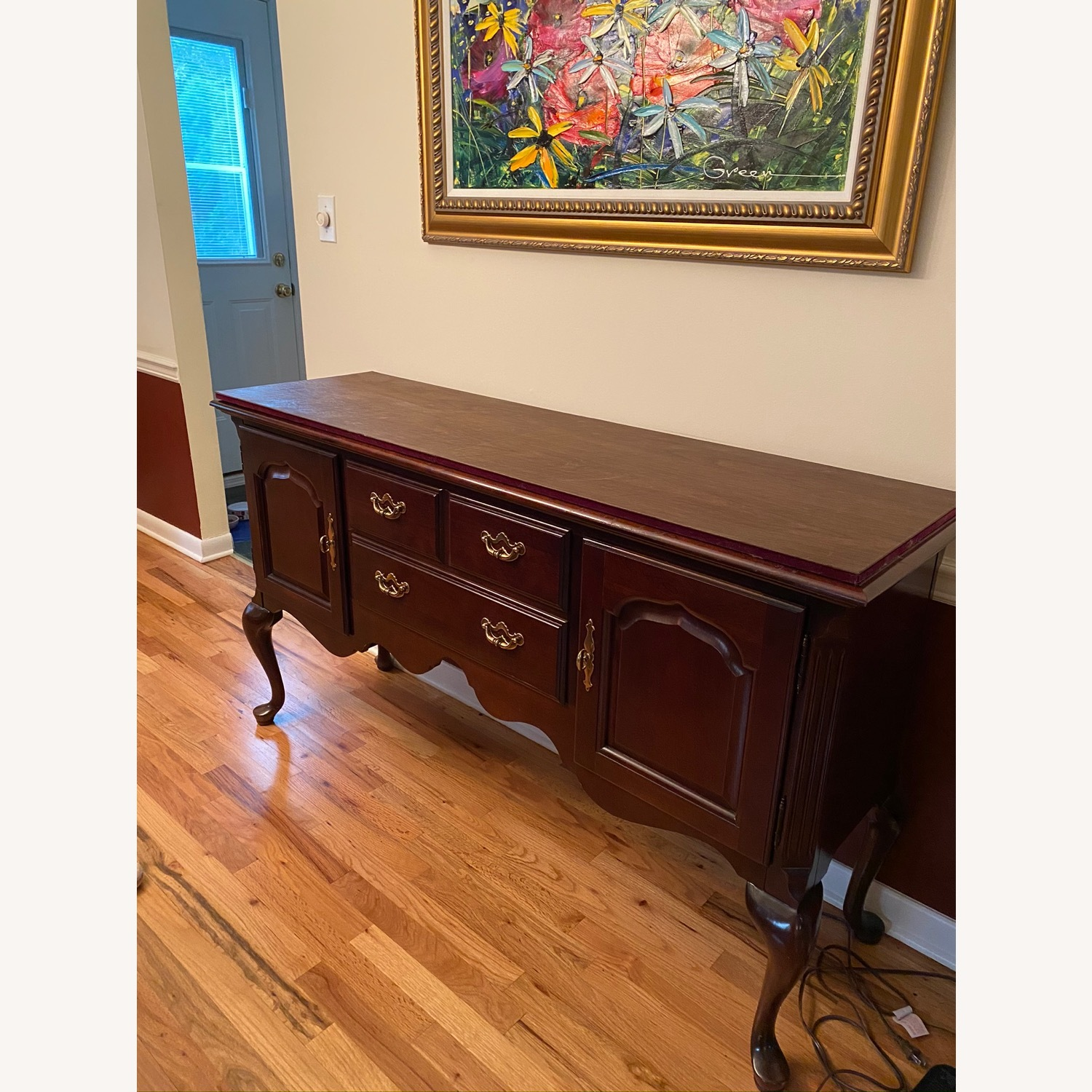 Queen Anne Cherry Sideboard - image-2