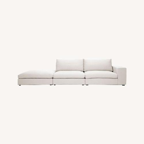 Used Article Cube Quartz White Modular Sofa Right Arm for sale on AptDeco