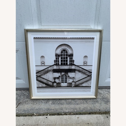 Used Trowbridge Black & White Framed Staircase Art Print for sale on AptDeco