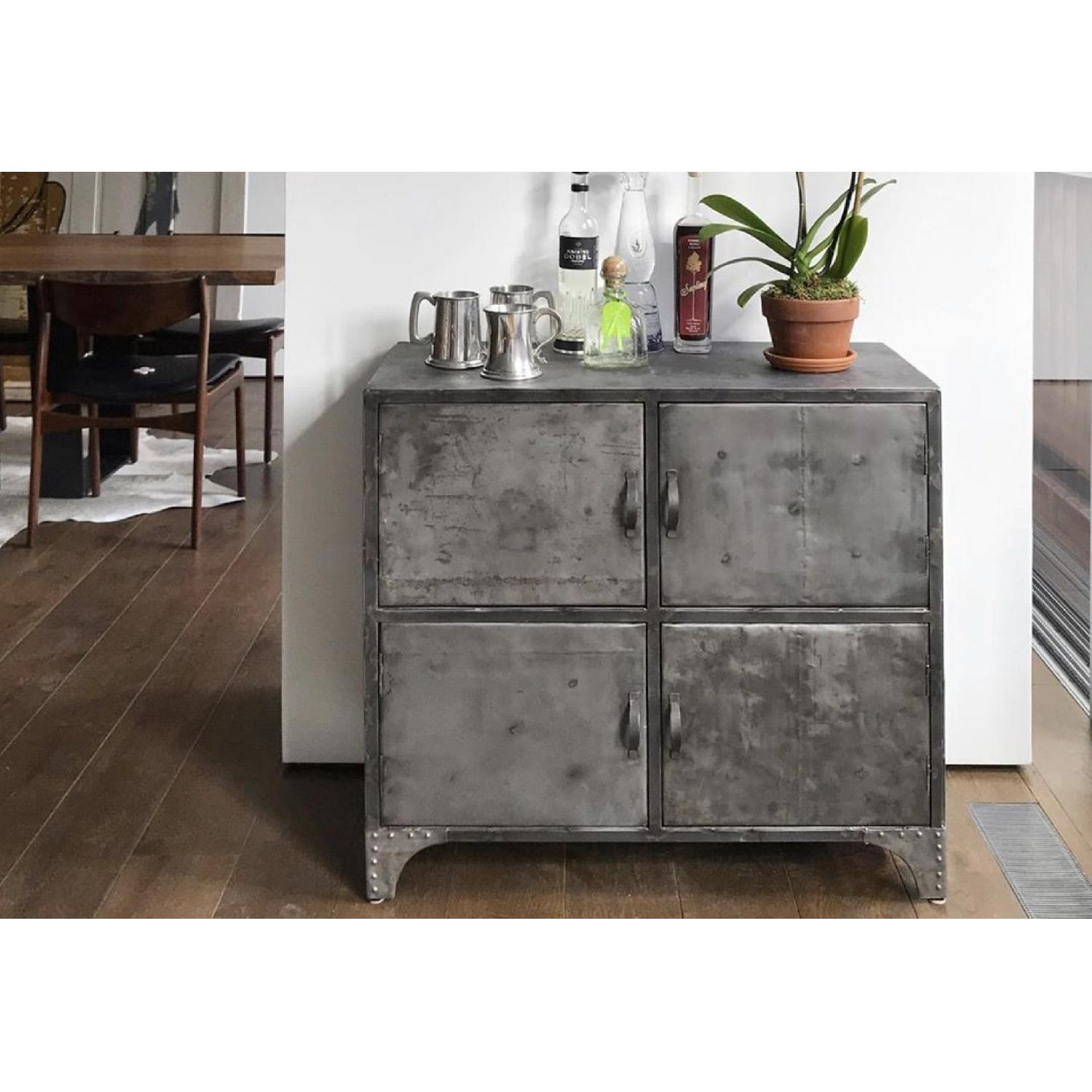 From The Source Recycled Oil Drum 4-Door Designer Cabinet - image-8