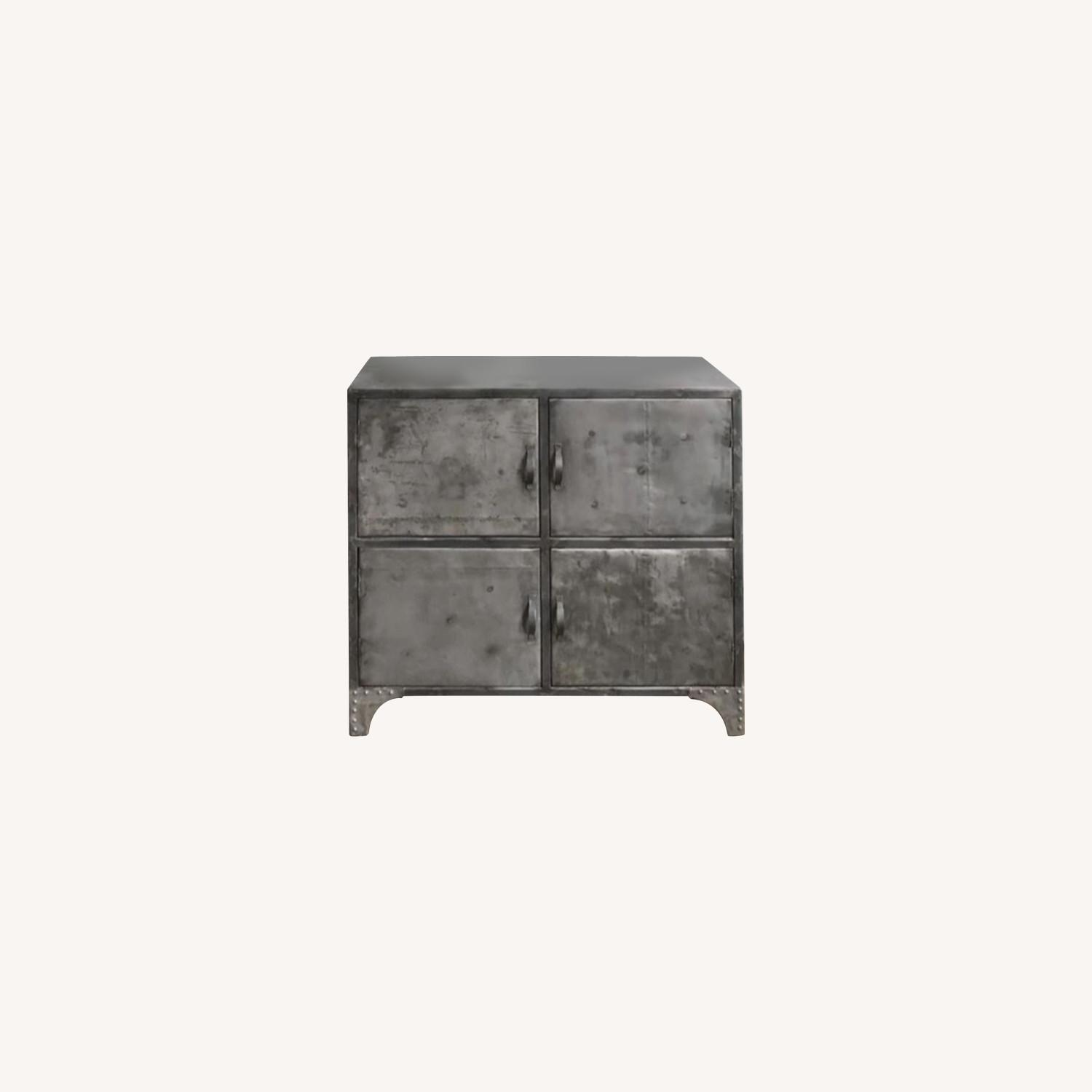 From The Source Recycled Oil Drum 4-Door Designer Cabinet - image-0