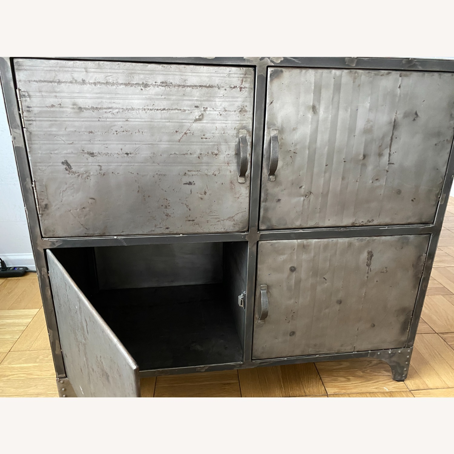 From The Source Recycled Oil Drum 4-Door Designer Cabinet - image-2