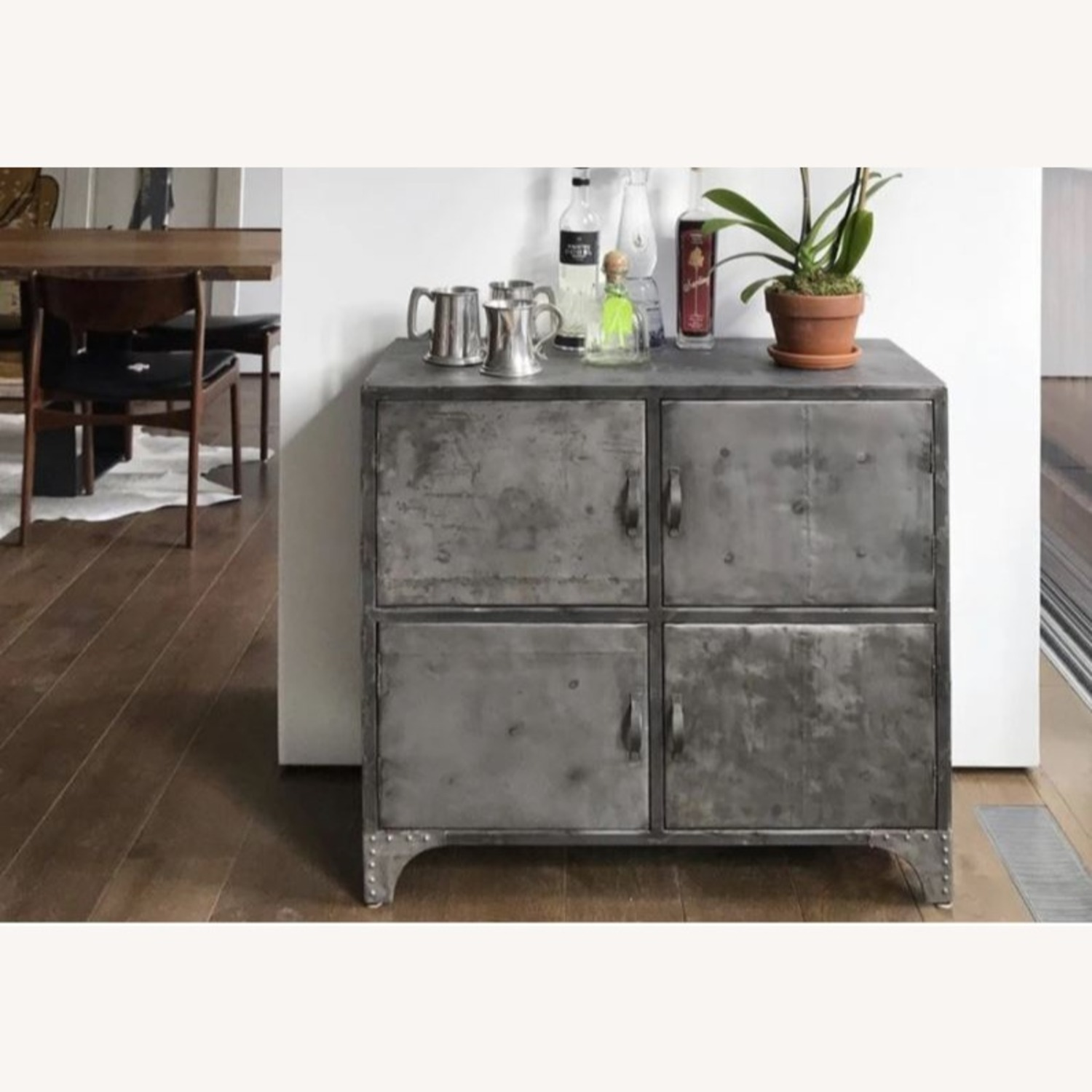 From The Source Recycled Oil Drum 4-Door Designer Cabinet - image-1