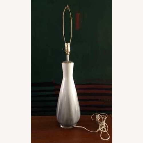 Used Mid Century Modern Lamp Gray and Gold Tints for sale on AptDeco
